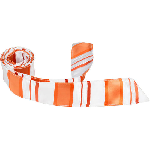 XO11 HT - White/Orange Stripe - Matching Hair Tie