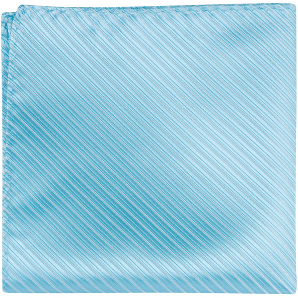 B16 PS - Aqua Pinstripe - Matching Pocket Square