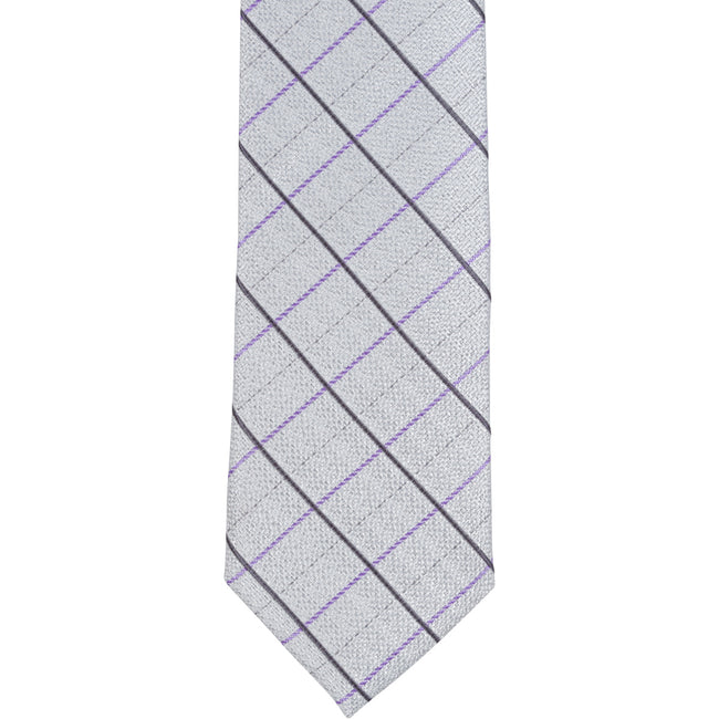 XS55 - Gray with Black/Purple Plaid - Narrow Width