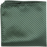 G7 PS - Olive Green Pinstripe - Matching Pocket Square