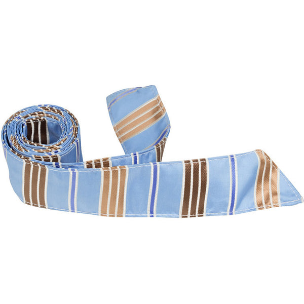XB10 HT - Blue/Brown Stripe - Matching Hair Tie