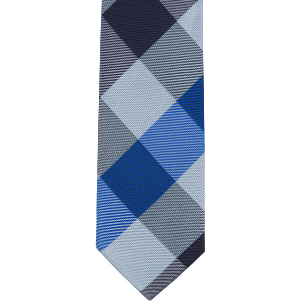 ST3 - Skinny Tie Blue Diamond Plaid