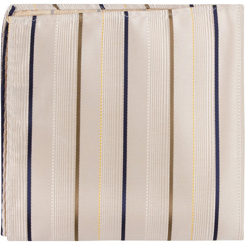 N3 PS - Tan with stripes - Pocket Square