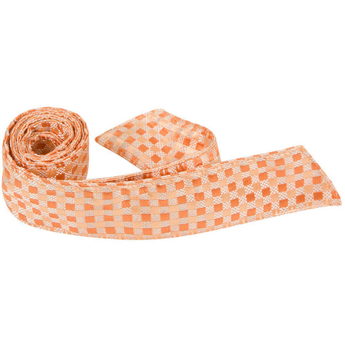 O6 HT - Orange Plaid - Matching Hair Tie