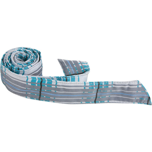 X3 HT - Blue/White/Gray Plaid - Matching Hair Tie