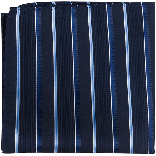 B11 PS - Navy Multi Stripe - Matching Pocket Square