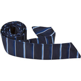 B11-HT - Navy with Stripes Hair Tie
