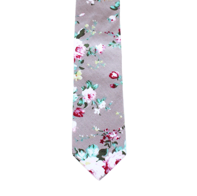 G1 - Gray Floral Cotton