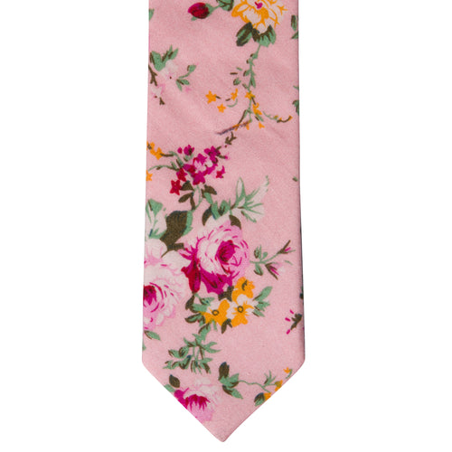 P4 - Pink Floral Cotton - Standard Width