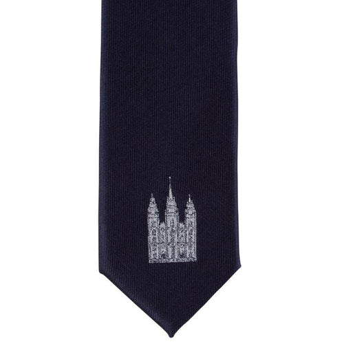 NTT - SL2 Navy Salt Lake City Utah Children's Single Temple Tie - Narrow Width