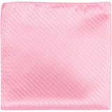 P1 PS - Baby Pink Pinstripe Matching Pocket Square