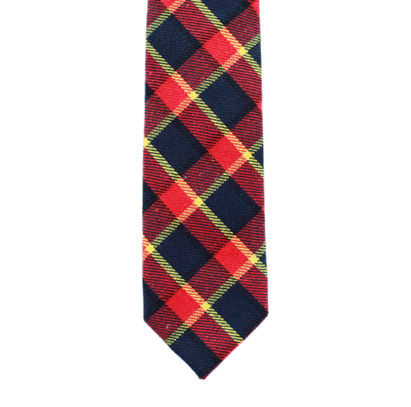 R9 - Red/Black/Yellow Plaid Neck Tie