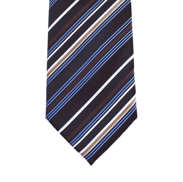 WF10 - Black with Multi Colored Stripes