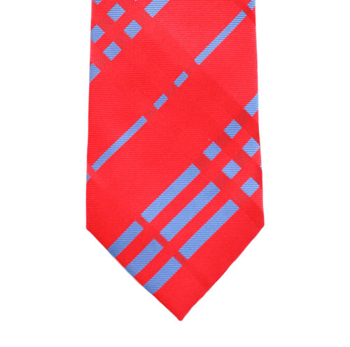 WF16 - Red with Light Blue Geometric Adult - Standard Width