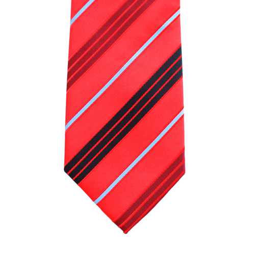 WF17 - Red with Multi Thin Stripes Adult - Standard Width