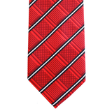 WF18 - Red Geometric with White/Black Stripe