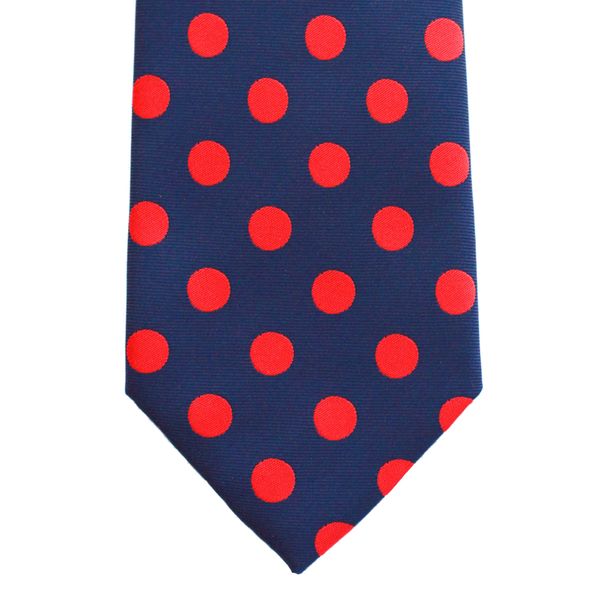 WF1 - Navy with Red Polka Dots