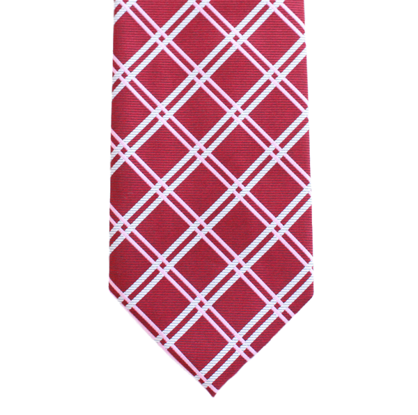 WF20 - Burgundy Diamond w/Pink and White Stripes Adult - Standard Width