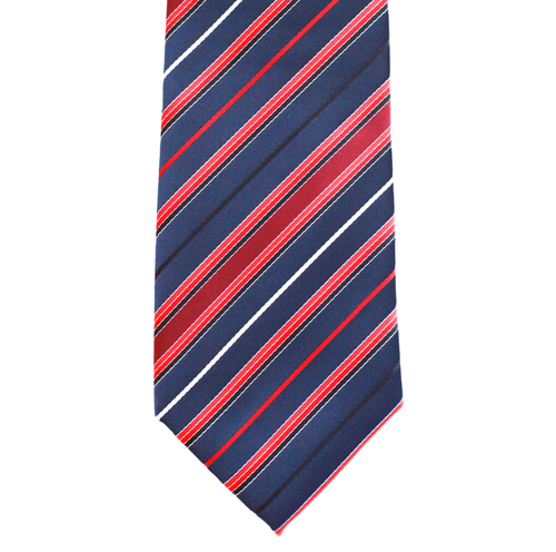 WF7 - Dark Blue with Multi Red Stripe