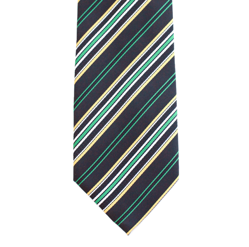 WF9 - Dark Green with Multi Colored Stripe