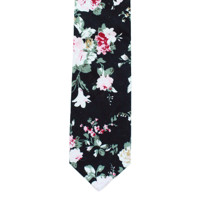 X7 - Black Floral Cotton
