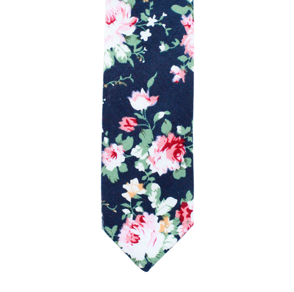 XB13 - Navy Floral Cotton - Standard Width