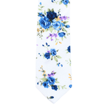 XW12 - White Floral Cotton - Standard Width