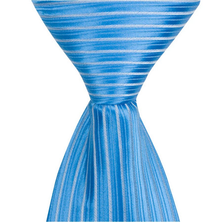 B12 - Blue with Light Blue Stripes - Varied Widths