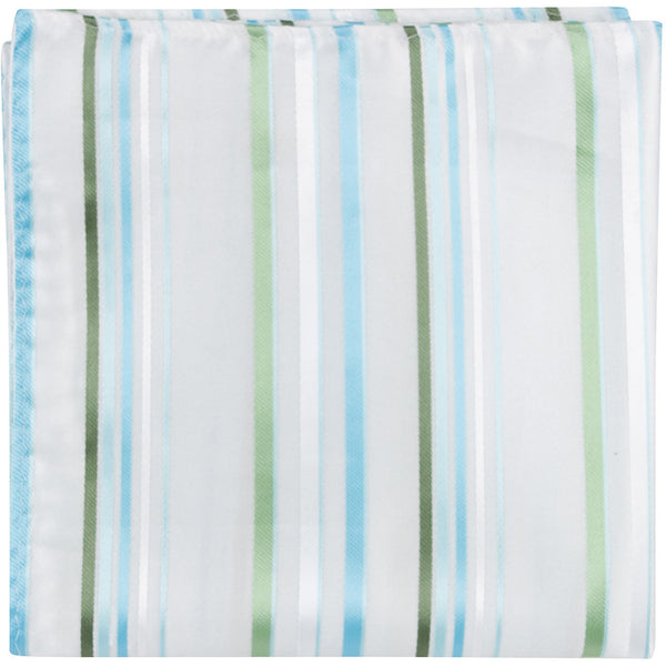 W3 - White w/Blue & Green Stripes