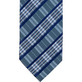 ZT3 - Blue Plaid Adult Skinny Zipper Tie