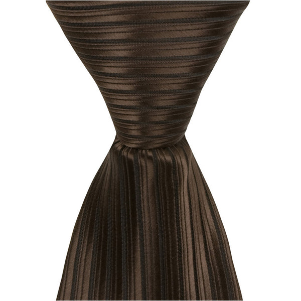N6 - Brown with Black Pinstripe