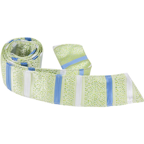 G2 HT - Green Squares Multi Stripe - Matching Hair Tie