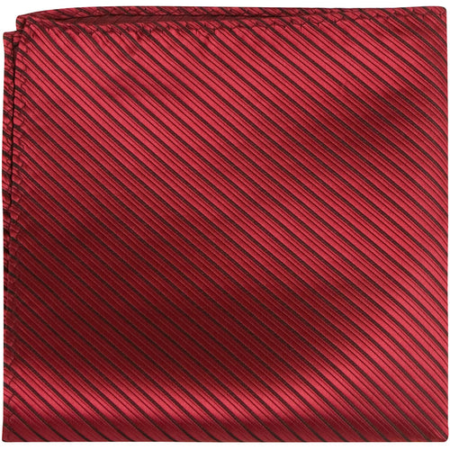 R7 PS - Red with small black stripes - Matching Pocket Square