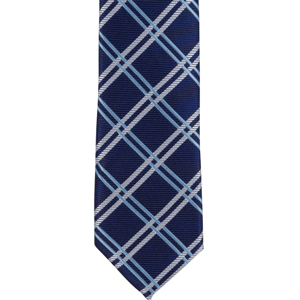 XB36 - Navy with Blue/Tan Diagonal Thin Stripe