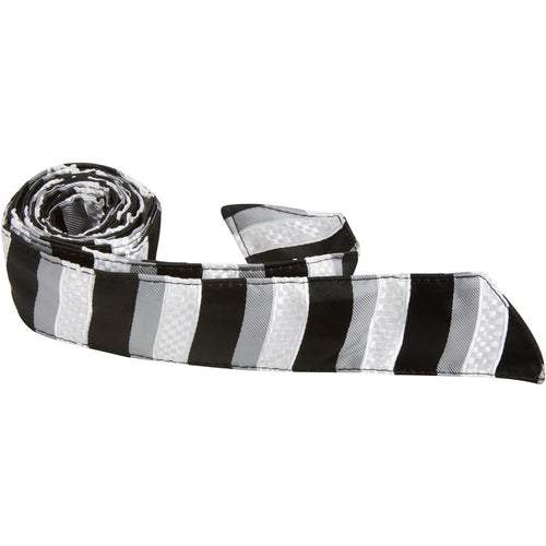 X2 HT - Black/White/Gray Stripe - Matching Hair Tie