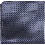 B4 PS - Midnight Blue w/Small Black Stripes - Matching Pocket Square