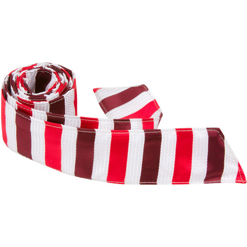 R8 HT - Red/White/Maroon Stripe - Matching Hair Tie