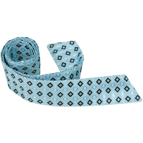 B14 HT - Cyan with Squares - Matching Hair Tie