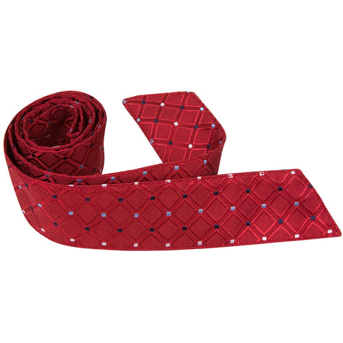R5-HT - Red Square with Diamond Accent - Matching Hair Tie