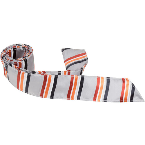 XS24 HT - Gray Multi Color Stripe - Matching Hair Tie