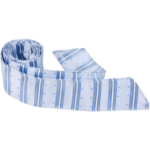 B7 HT - Blue Multi Stripe with Squares - Matching Hair Tie