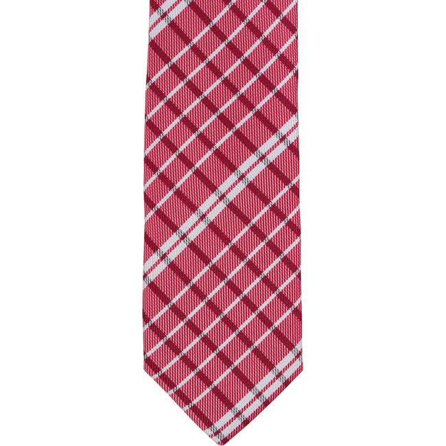 XR52 - Red & White Small Plaid Narrow Width