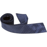 B4-HT - Midnight Blue w/Small Black Stripes Hair Tie