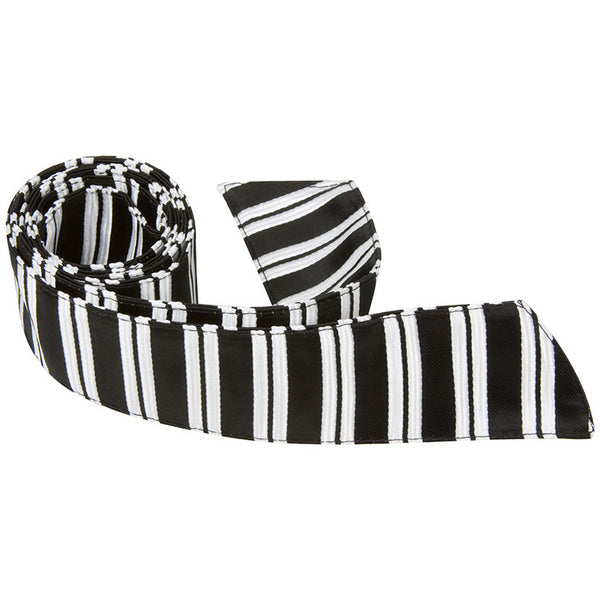 K3 HT - Black and White Stripe - Matching Hair Tie