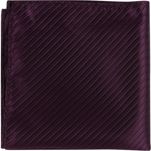 L8 PS - Wine with black pinstripe - Matching Pocket Square