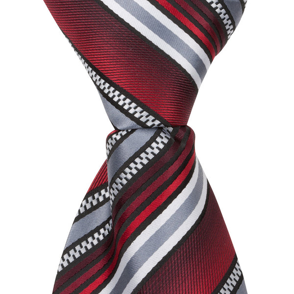 43ef8c7c61a9 X4 - Red/Gray Multi Stripe – The Matching Tie Guy