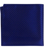 B5 PS- Royal Blue with Small Black Stripes - Matching Pocket Square