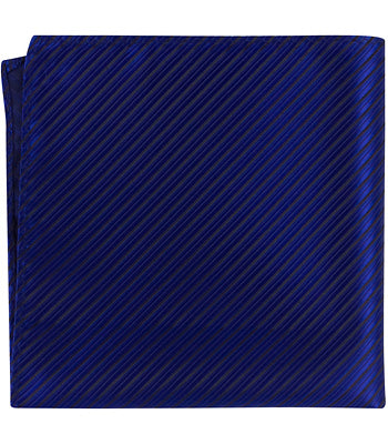 B5 PS- Blue with small black stripes - Matching Pocket Square