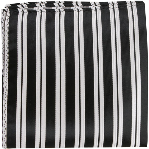 K3 PS - Black with white stripes - Matching Pocket Squares