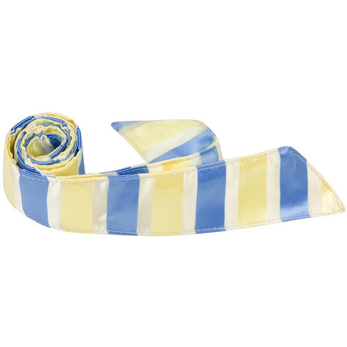 Y6 HT - Yellow and Blue Stripe - Matching Hair Tie